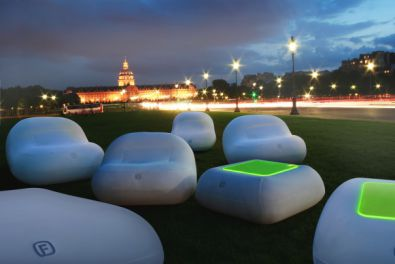 Aufblasbare Bubble Möbel