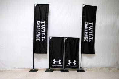 Square-Flags für Under Armour