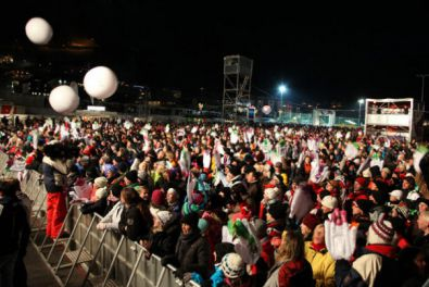 Crowd Balls in Ischgl