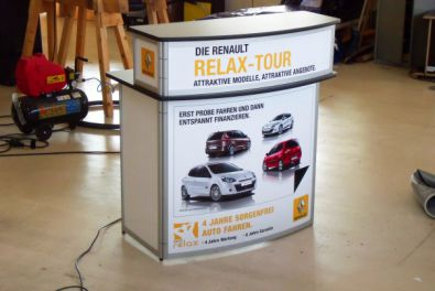 Promotiontheke Curved-Deluxe für Renault