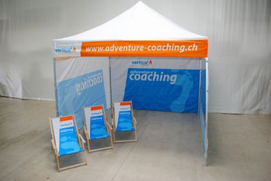 Faltzelt 3x3m für Adventure Coaching