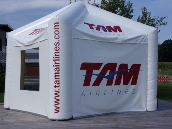 Eventzelt Pavillon Air 4x4 Meter für TAM-Airlines