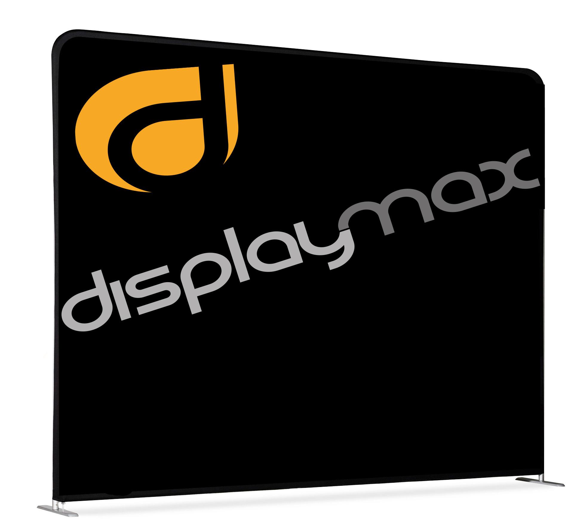display max zipper wall straight 400x230cm praktische gerade messewand. Black Bedroom Furniture Sets. Home Design Ideas